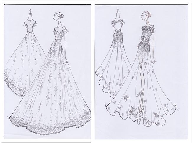 香港服装学院优秀学员郑润彬设计手稿图片