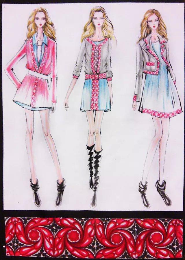 广东时尚学院学生作品:服装设计效果图(五)